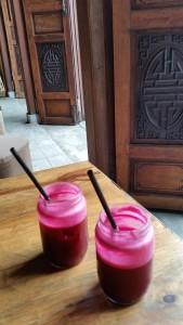 Beet ginger juice